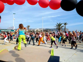 zumba on the beach in javea